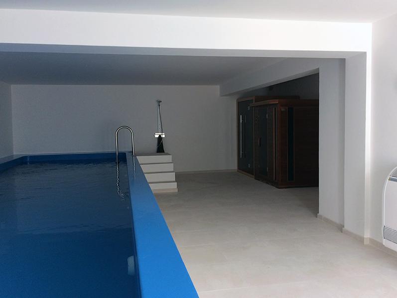 Climatização e tratamento de ar de piscina interior