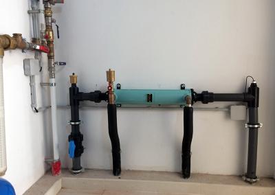 Sistema de aquecimento da piscina através de um permutador Bowman