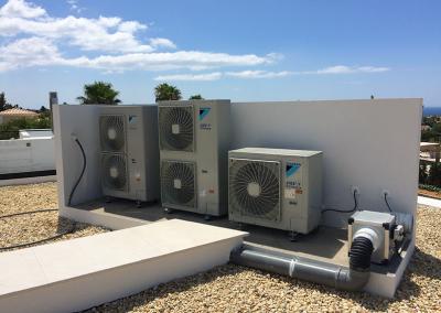 Unidades exteriores Mini VRV e sistema de extração de ar centralizado